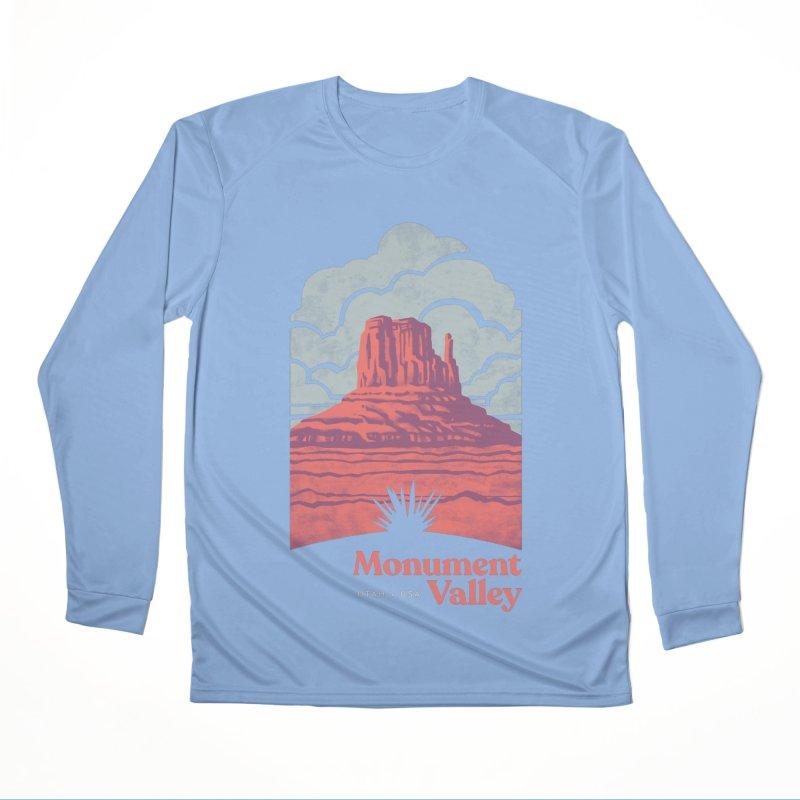 Monument Valley Travel Poster Men's Performance Longsleeve T-Shirt by Waynem