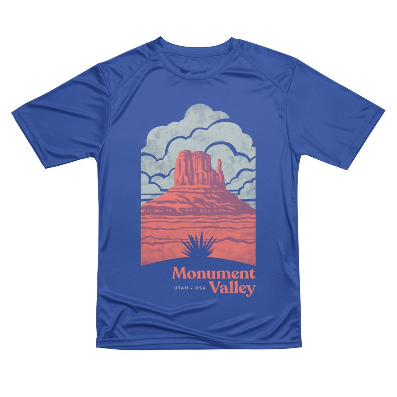Monument Valley Travel Poster Women's Performance Unisex T-Shirt by Waynem