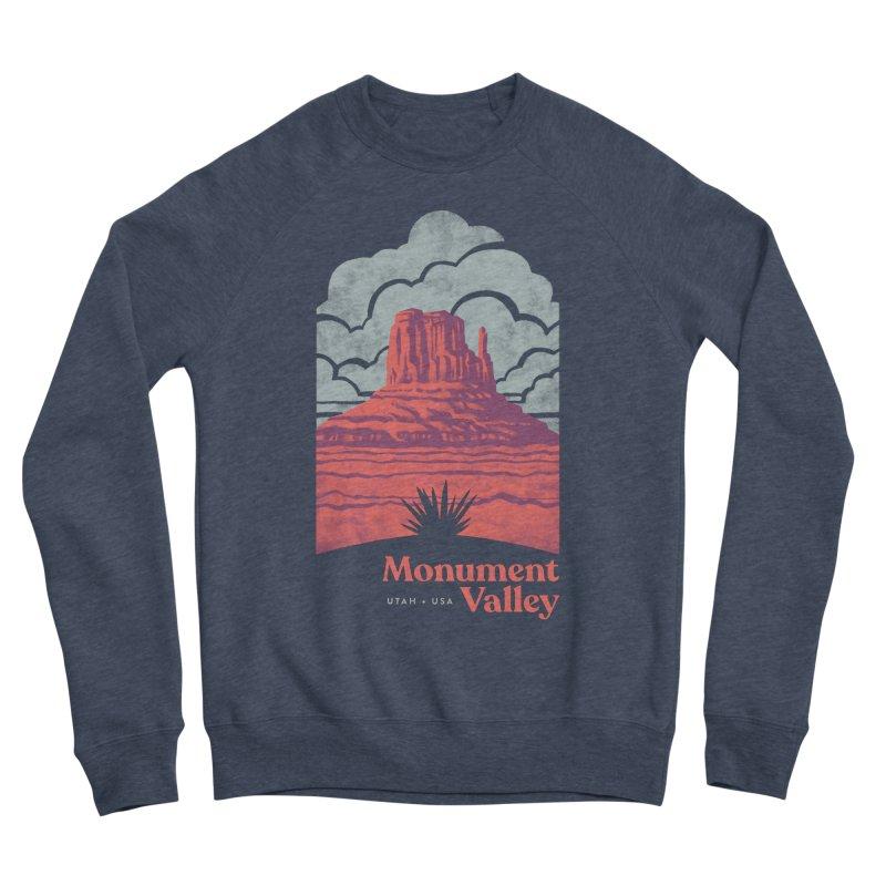 Monument Valley Travel Poster Men's Sponge Fleece Sweatshirt by Waynem