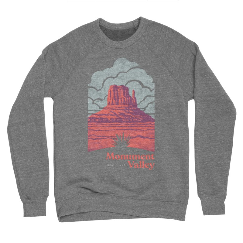 Monument Valley Travel Poster Women's Sponge Fleece Sweatshirt by Waynem