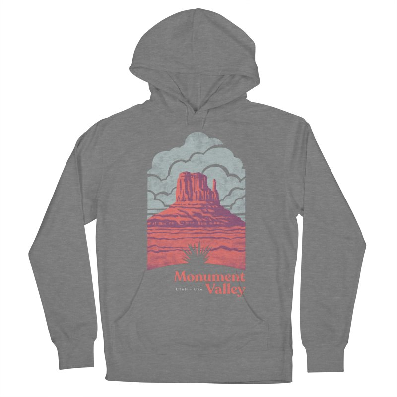 Monument Valley Travel Poster Women's French Terry Pullover Hoody by Waynem