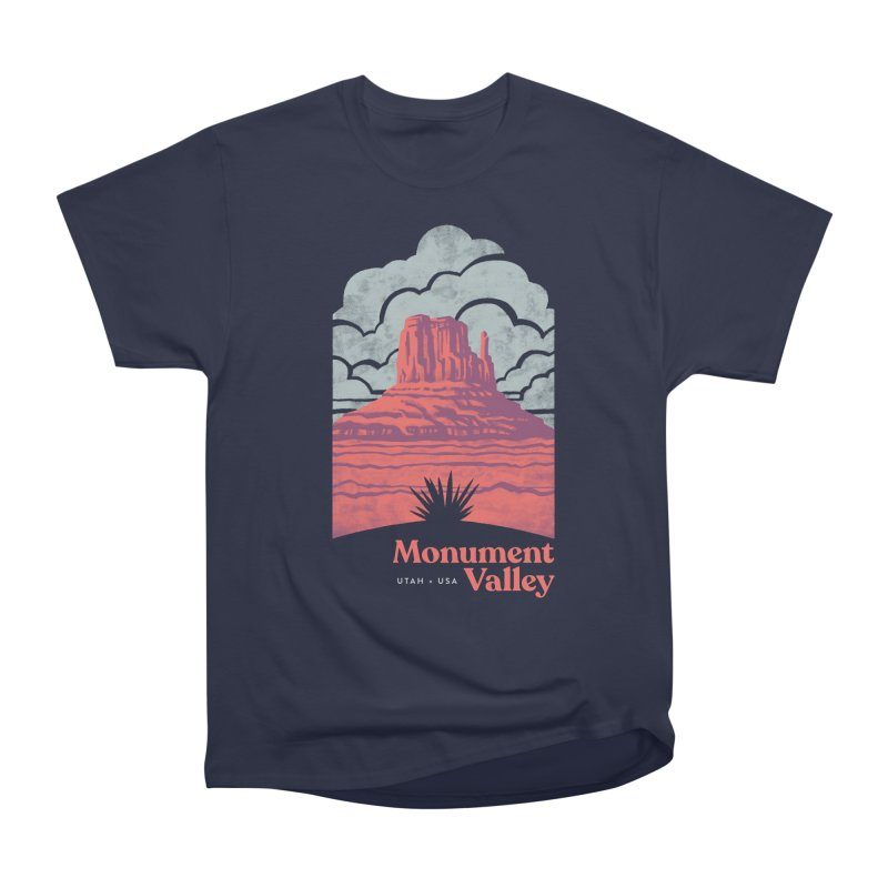 Monument Valley Travel Poster Women's Heavyweight Unisex T-Shirt by Waynem