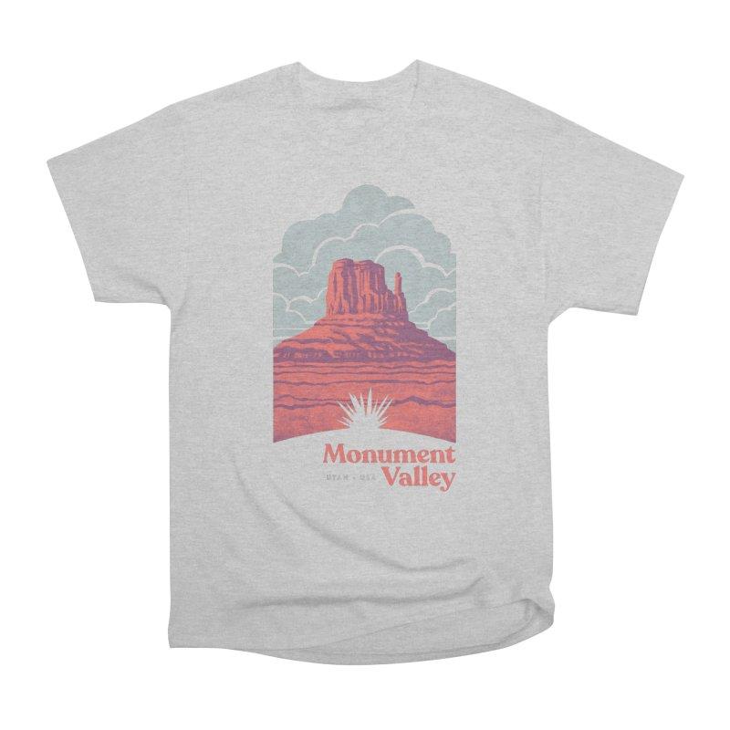 Monument Valley Travel Poster Men's Heavyweight T-Shirt by Waynem