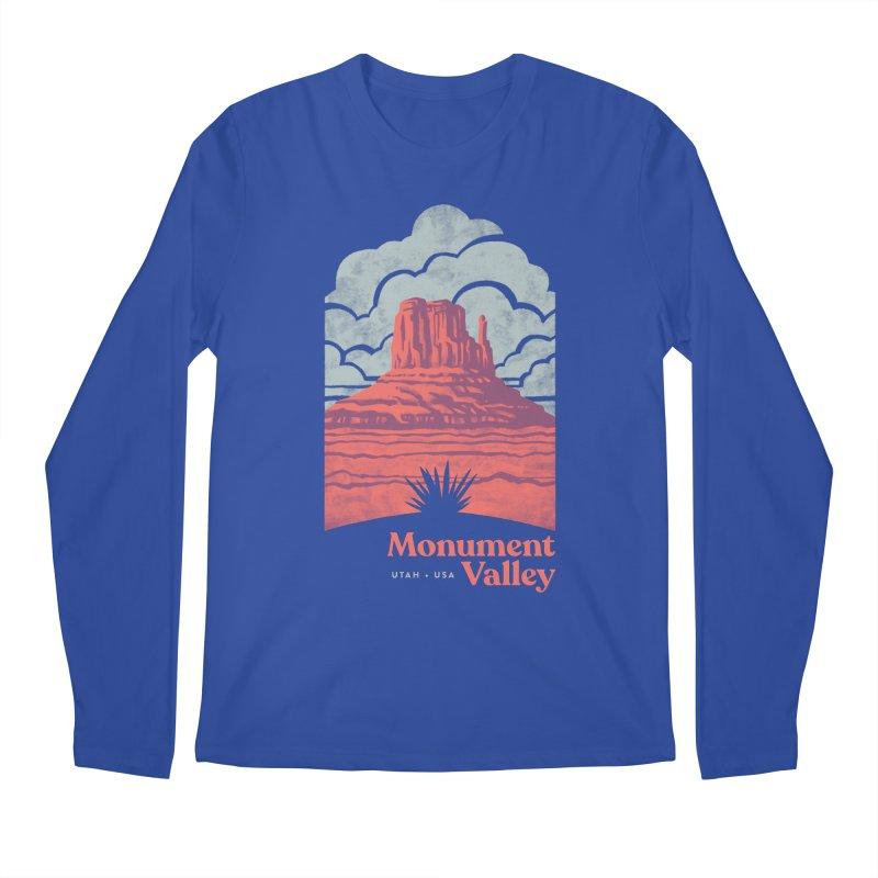 Monument Valley Travel Poster Men's Regular Longsleeve T-Shirt by Waynem