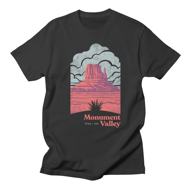 Monument Valley Travel Poster Men's Regular T-Shirt by Waynem