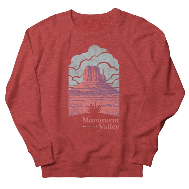 Monument Valley Travel Poster Men's French Terry Sweatshirt by Waynem