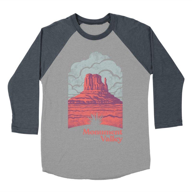 Monument Valley Travel Poster Women's Baseball Triblend Longsleeve T-Shirt by Waynem