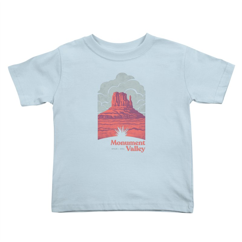 Monument Valley Travel Poster Kids Toddler T-Shirt by Waynem