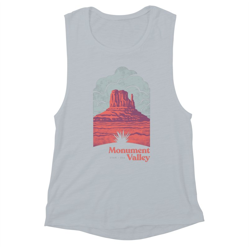 Monument Valley Travel Poster Women's Muscle Tank by Waynem
