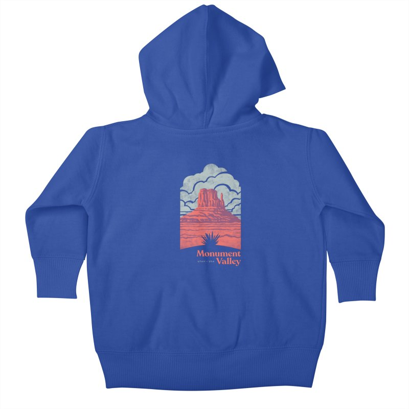 Monument Valley Travel Poster Kids Baby Zip-Up Hoody by Waynem