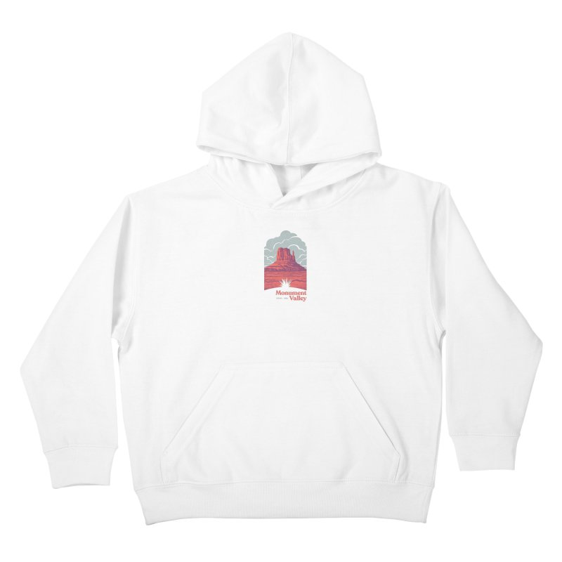 Monument Valley Travel Poster Kids Pullover Hoody by Waynem