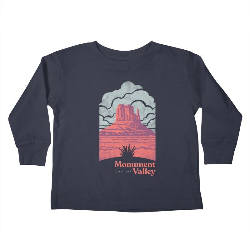 Monument Valley Travel Poster Kids Toddler Longsleeve T-Shirt by Waynem