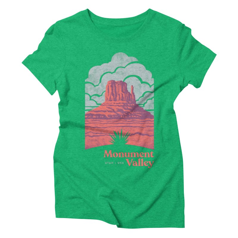 Monument Valley Travel Poster Women's Triblend T-Shirt by Waynem