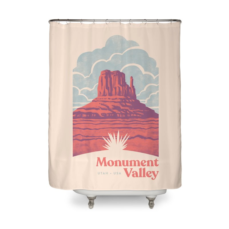 Monument Valley Travel Poster Home Shower Curtain by Waynem