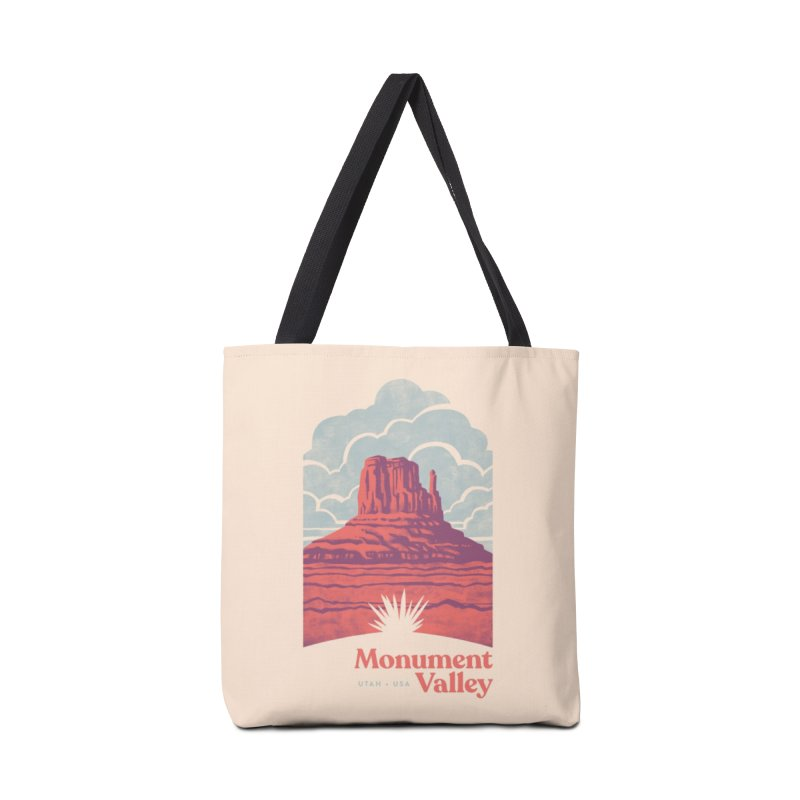 Monument Valley Travel Poster Accessories Tote Bag Bag by Waynem