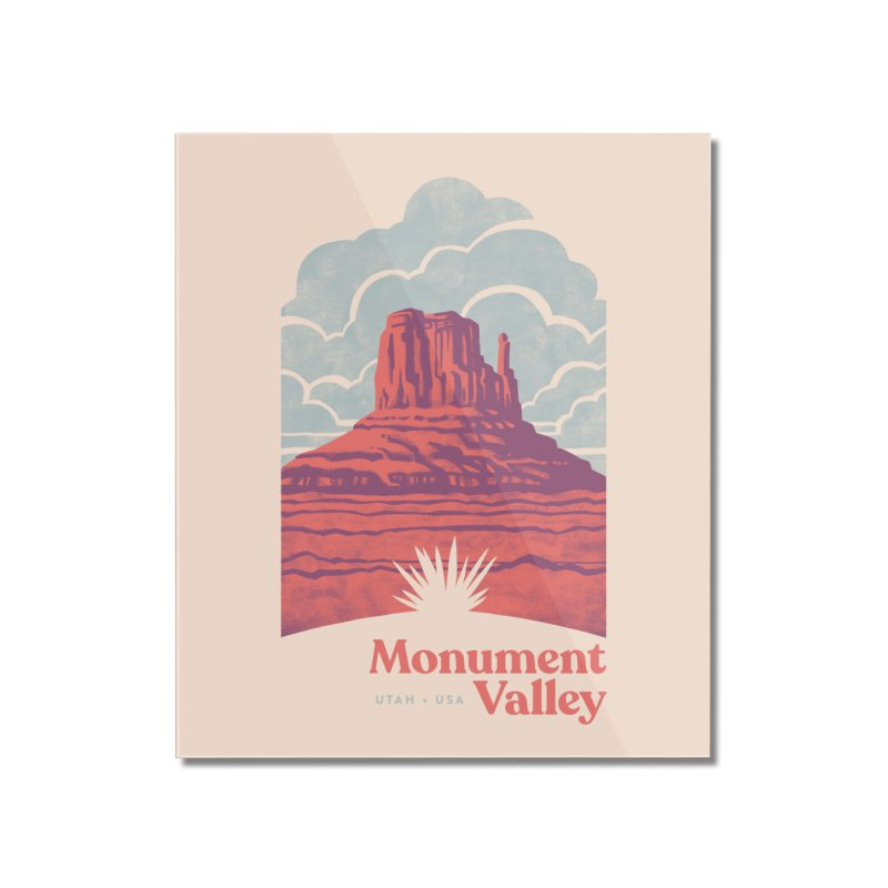 Monument Valley Travel Poster Home Mounted Acrylic Print by Waynem