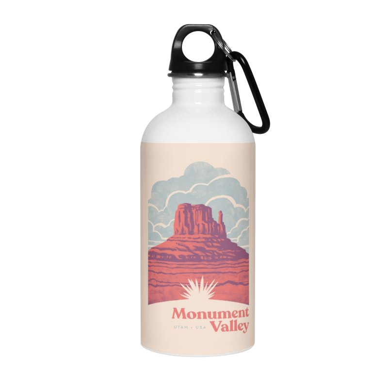 Monument Valley Travel Poster Accessories Water Bottle by Waynem