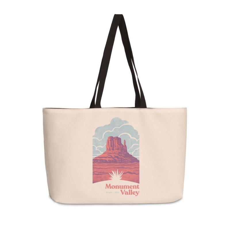 Monument Valley Travel Poster Accessories Weekender Bag Bag by Waynem