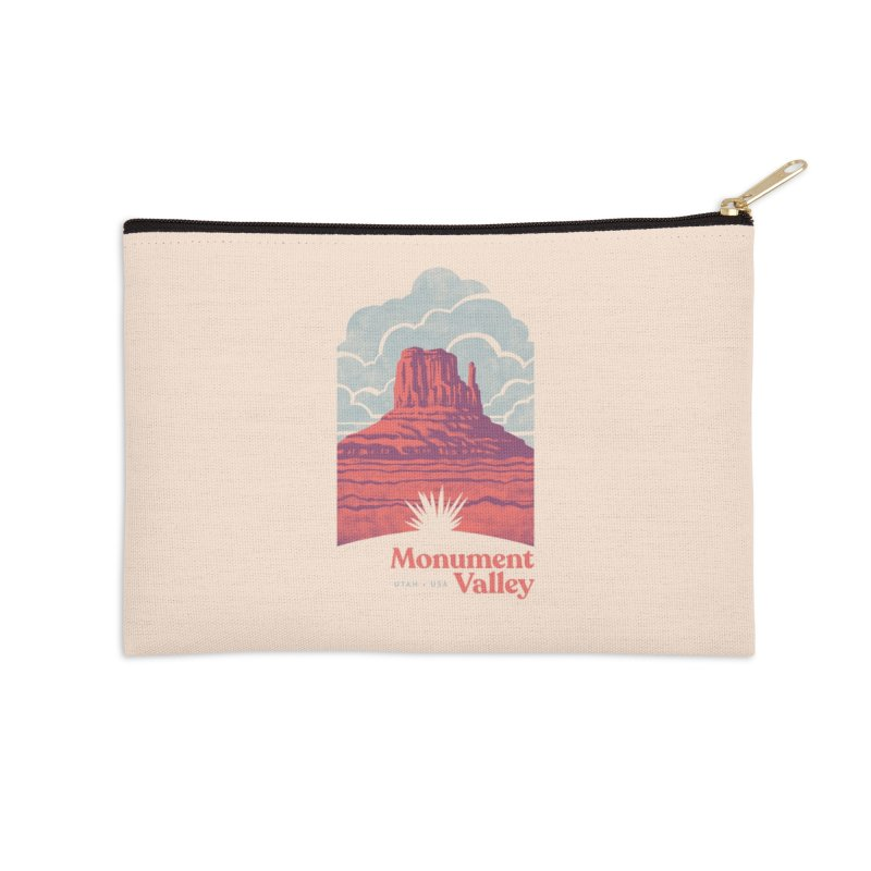 Monument Valley Travel Poster Accessories Zip Pouch by Waynem