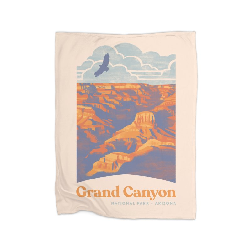 Grand Canyon Home Fleece Blanket Blanket by Waynem