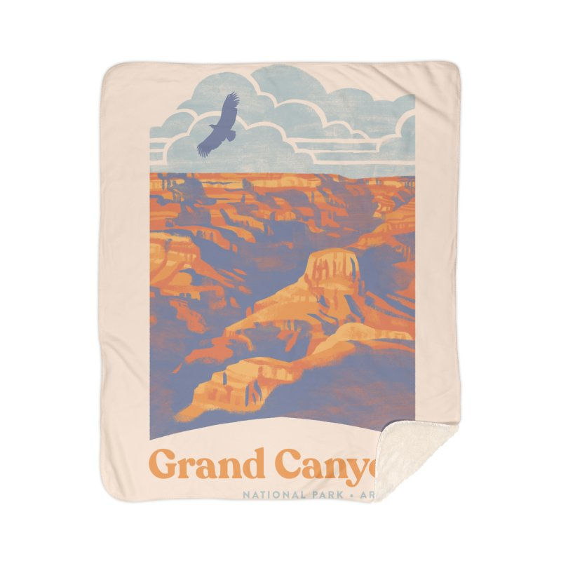Grand Canyon Home Sherpa Blanket Blanket by Waynem