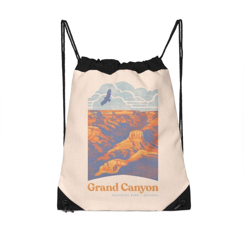 Grand Canyon Accessories Drawstring Bag Bag by Waynem