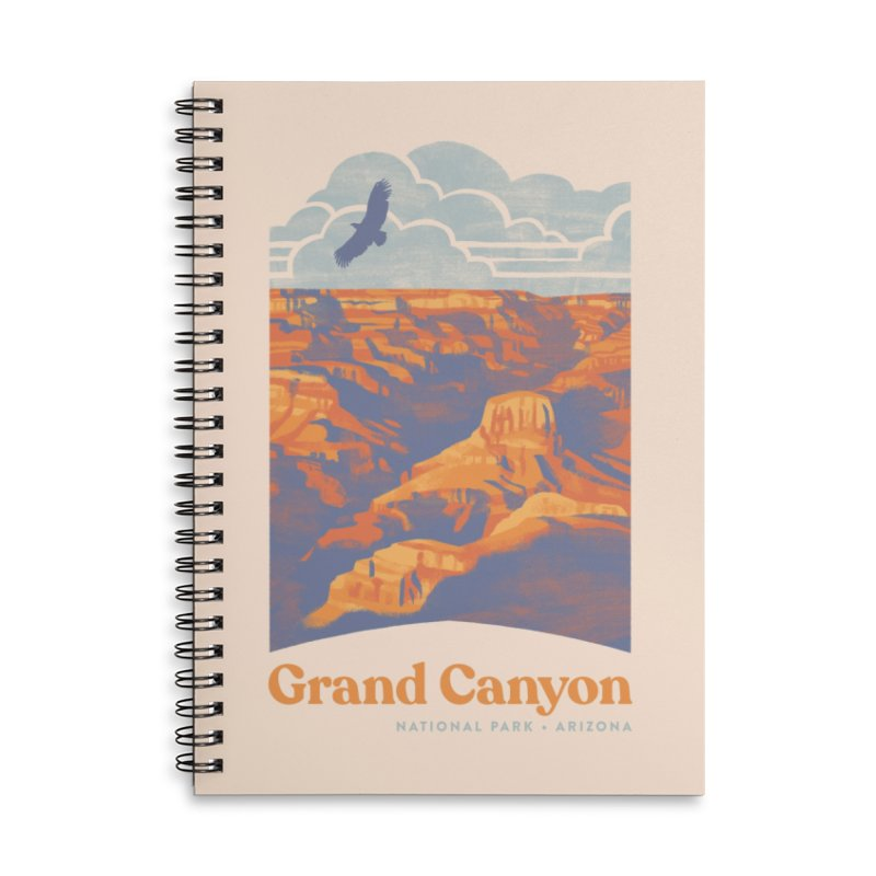 Grand Canyon Accessories Lined Spiral Notebook by Waynem