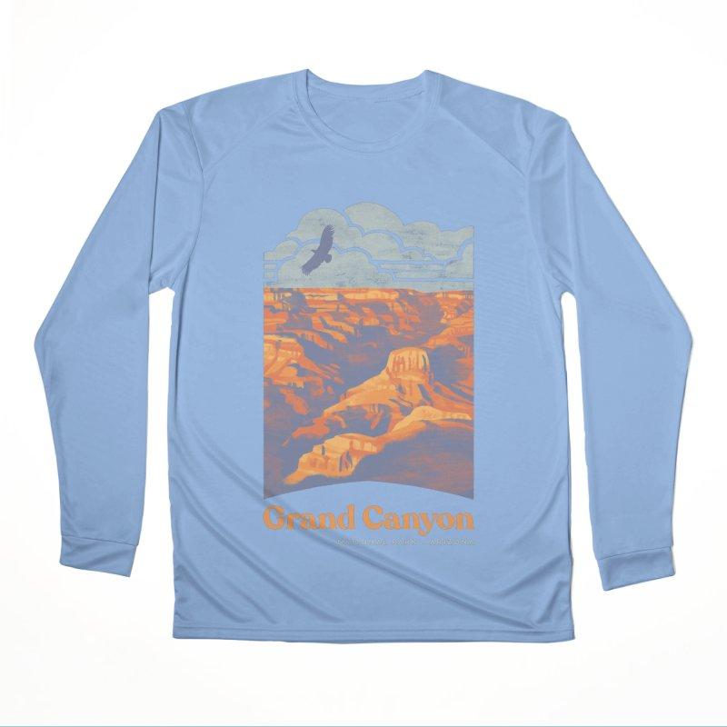 Grand Canyon Men's Performance Longsleeve T-Shirt by Waynem