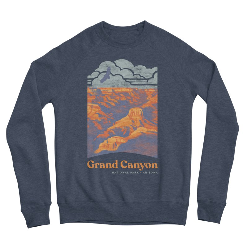 Grand Canyon Men's Sponge Fleece Sweatshirt by Waynem