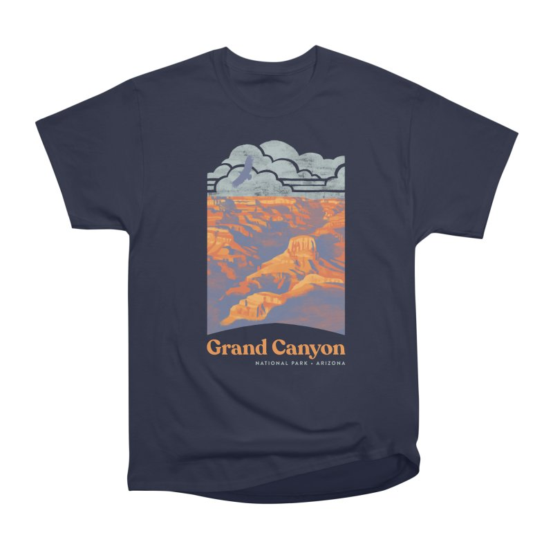 Grand Canyon Men's Heavyweight T-Shirt by Waynem