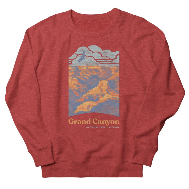 Grand Canyon Men's French Terry Sweatshirt by Waynem