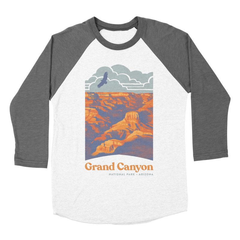 Grand Canyon Women's Baseball Triblend Longsleeve T-Shirt by Waynem