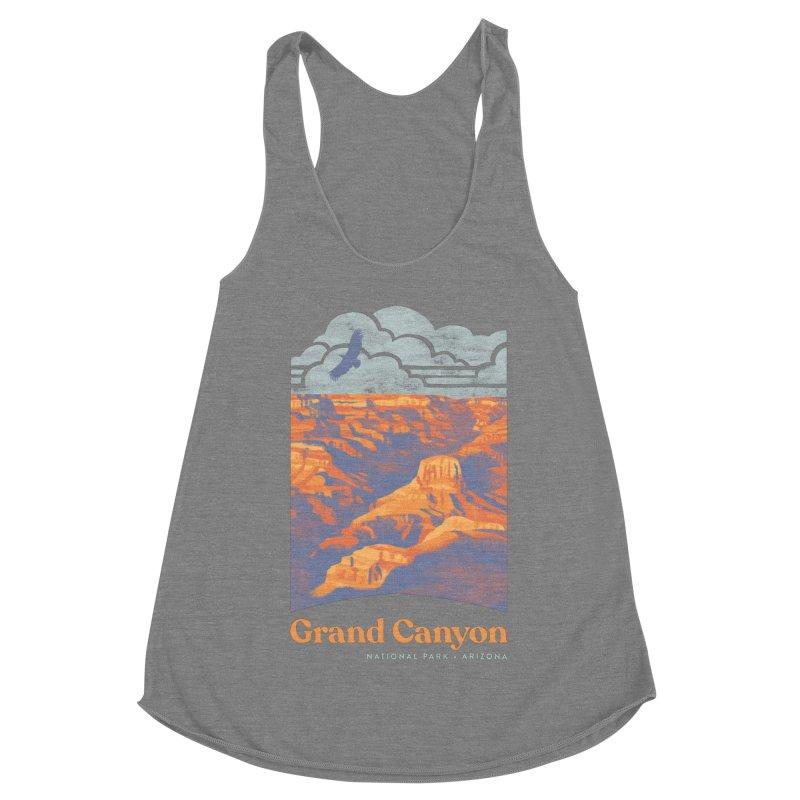Grand Canyon Women's Racerback Triblend Tank by Waynem