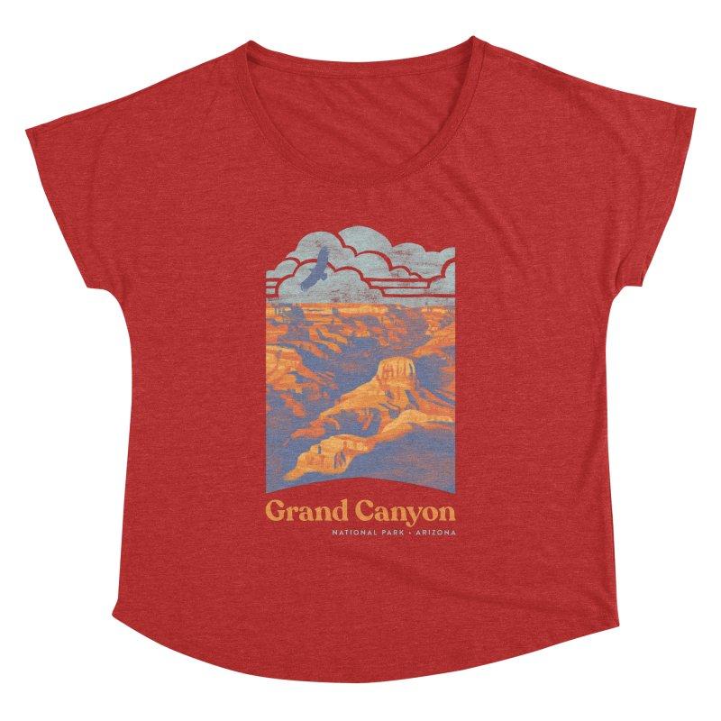 Grand Canyon Women's Dolman Scoop Neck by Waynem