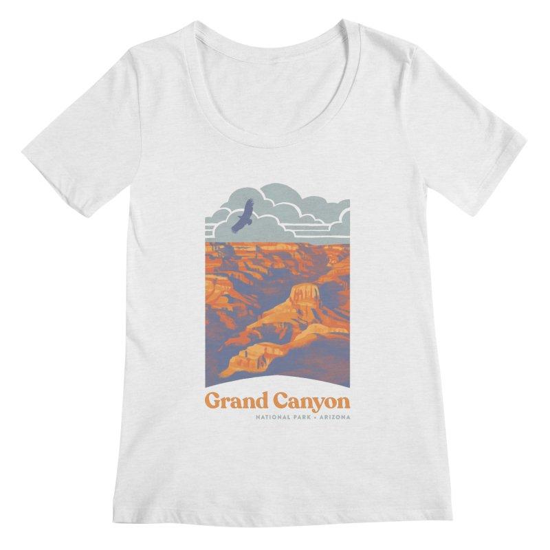 Grand Canyon Women's Regular Scoop Neck by Waynem