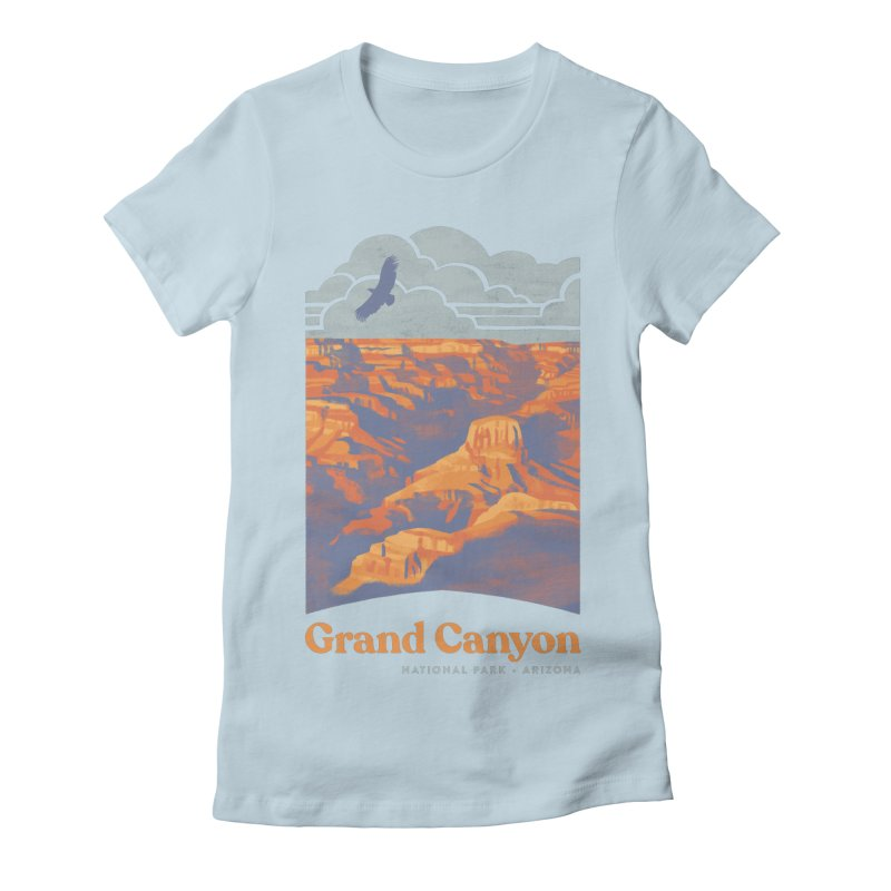 Grand Canyon Women's Fitted T-Shirt by Waynem
