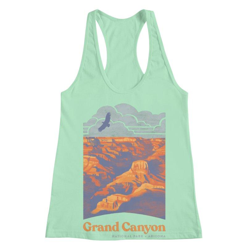 Grand Canyon Women's Racerback Tank by Waynem