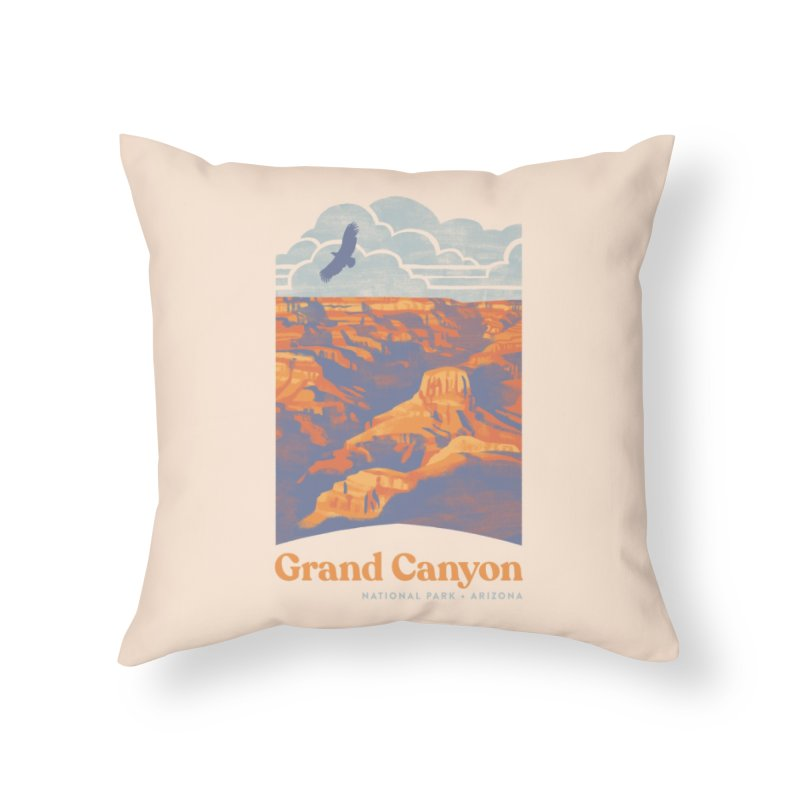 Grand Canyon Home Throw Pillow by Waynem