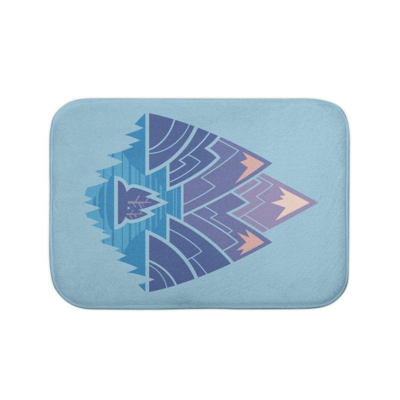 Mountain Lake : blue Home Bath Mat by Waynem