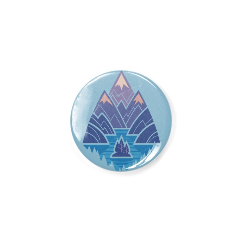 Mountain Lake : blue Accessories Button by Waynem