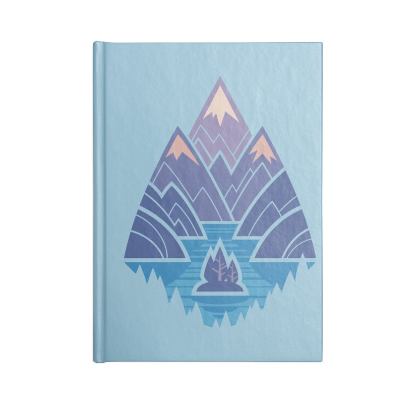 Mountain Lake : blue Accessories Lined Journal Notebook by Waynem