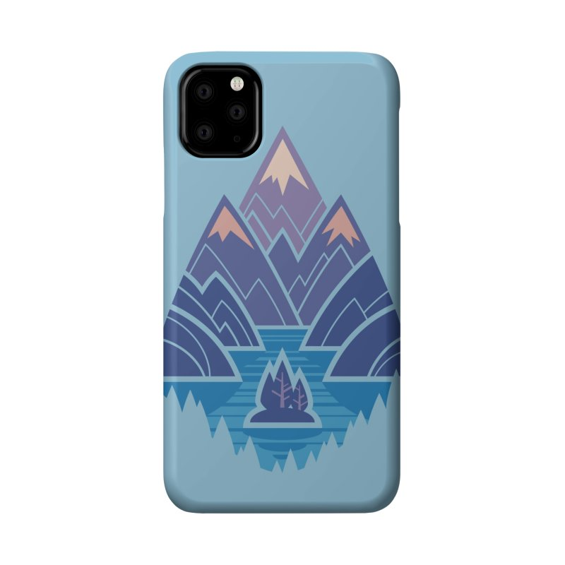 Mountain Lake : blue Accessories Phone Case by Waynem