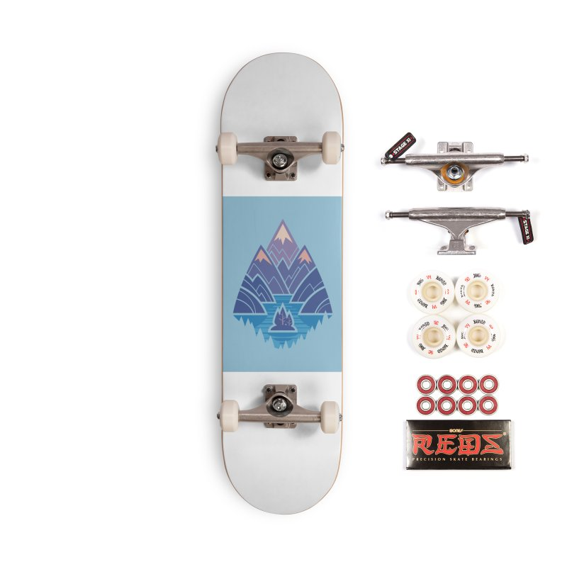 Mountain Lake : blue Accessories Complete - Pro Skateboard by Waynem