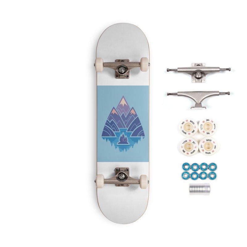 Mountain Lake : blue Accessories Complete - Premium Skateboard by Waynem