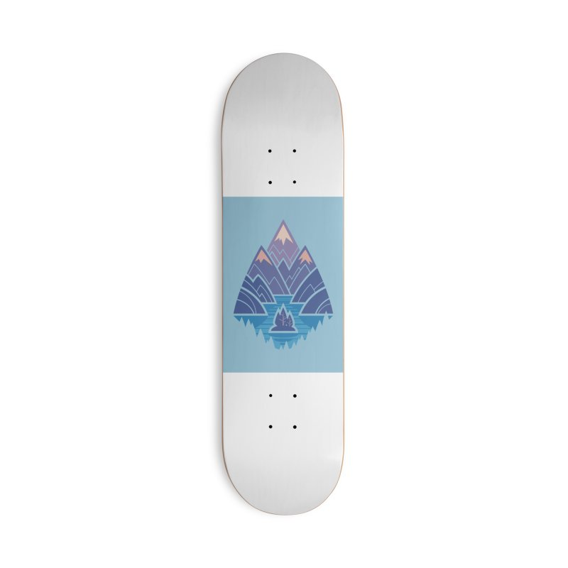 Mountain Lake : blue Accessories Deck Only Skateboard by Waynem