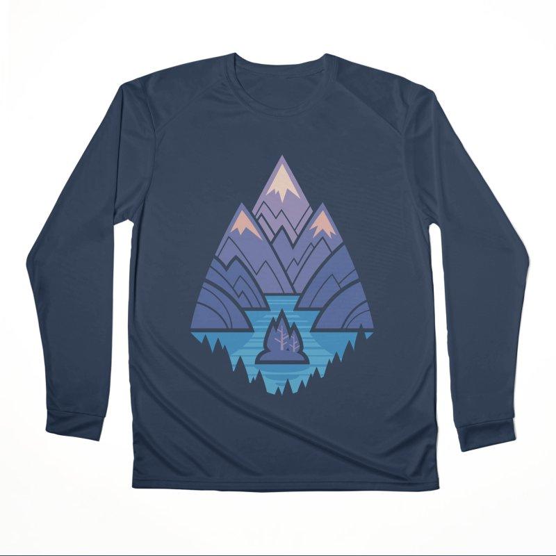 Mountain Lake : blue Men's Performance Longsleeve T-Shirt by Waynem