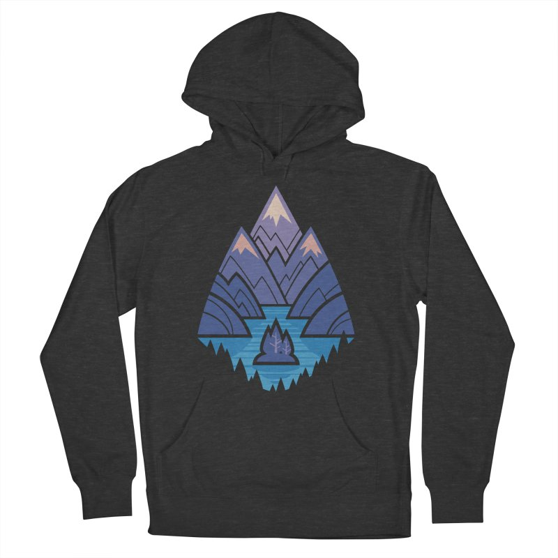 Mountain Lake : blue Women's French Terry Pullover Hoody by Waynem