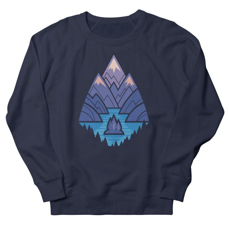 Mountain Lake : blue Women's French Terry Sweatshirt by Waynem