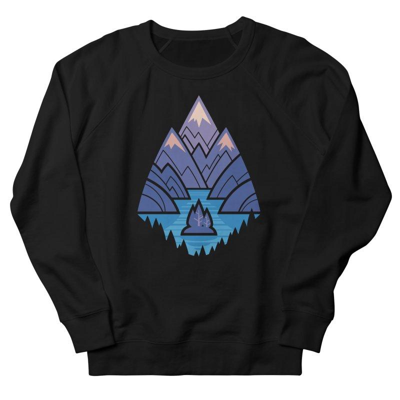 Mountain Lake : blue Men's French Terry Sweatshirt by Waynem