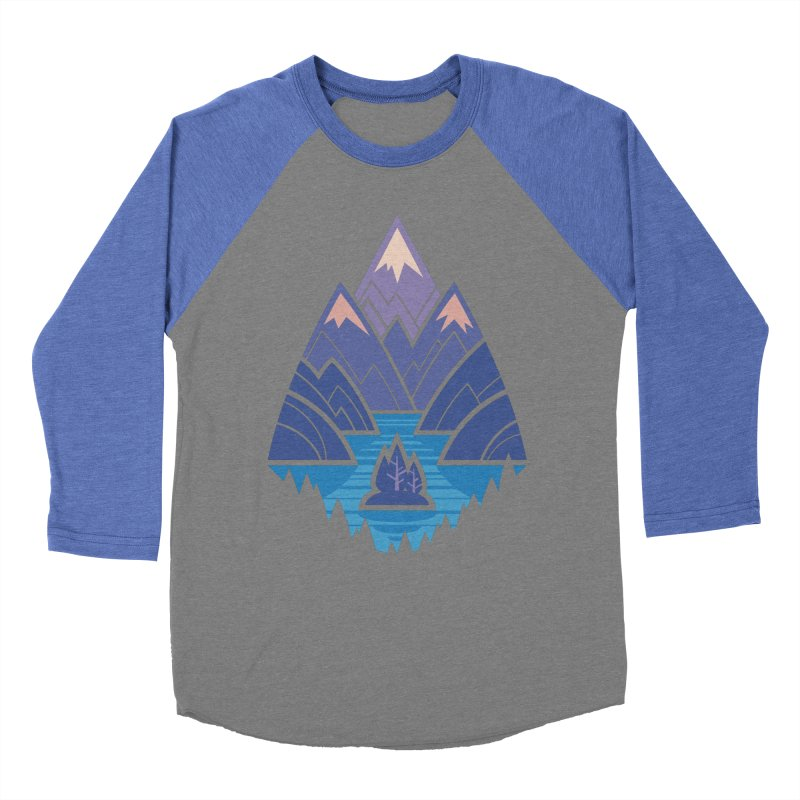 Mountain Lake : blue Women's Baseball Triblend Longsleeve T-Shirt by Waynem